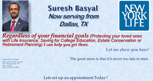 Suresh Basyal, Agent, NYLIC